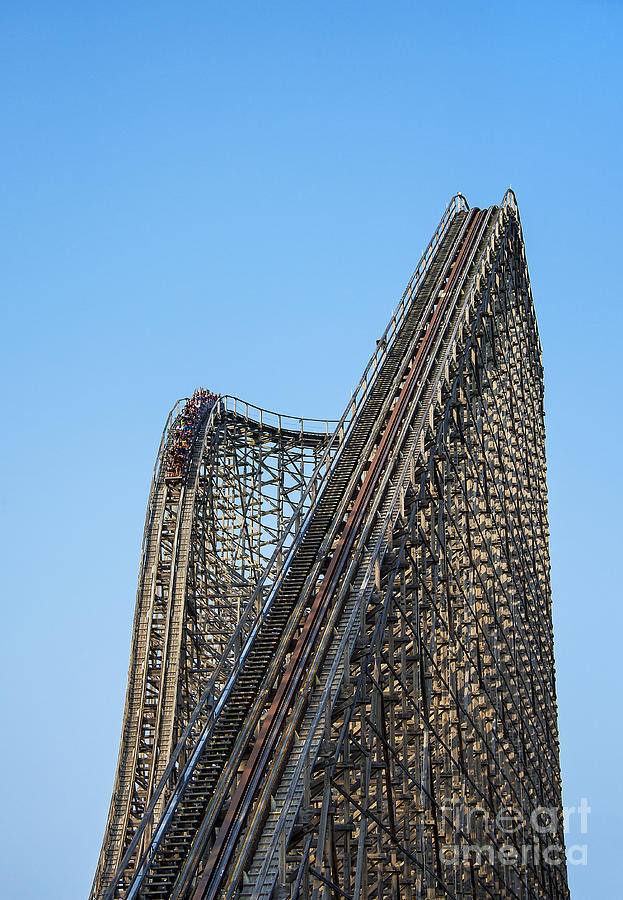 Wooden Roller Coaster Photograph  - Wooden Roller Coaster Fine Art Print