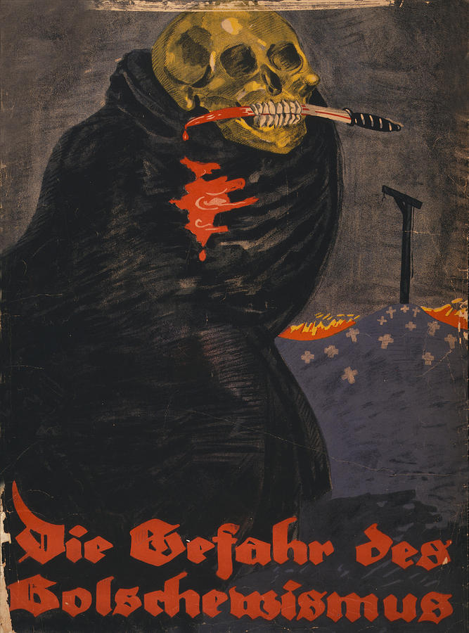 World War I, Bolshevism, Poster Shows Photograph