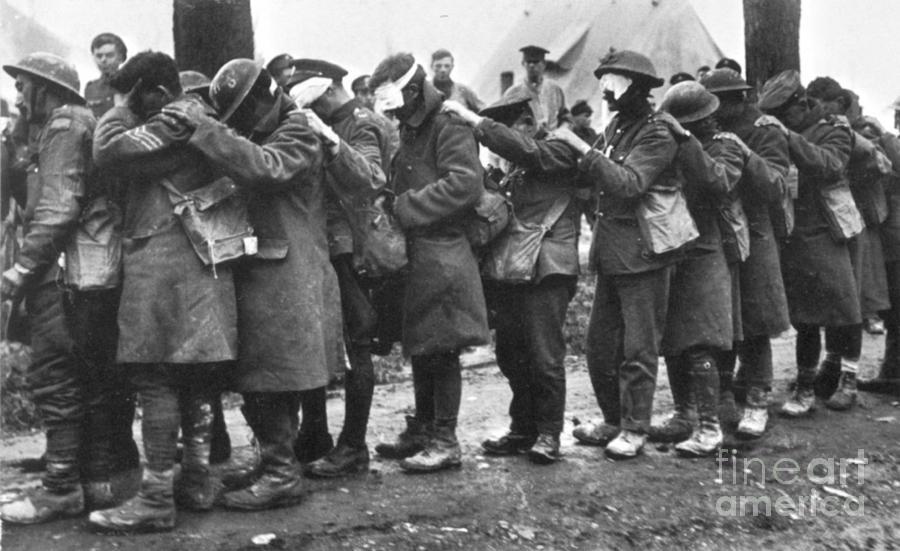World war i gas warfare photograph