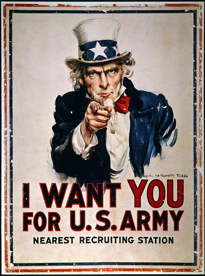 World War I: Uncle Sam Photograph  - World War I: Uncle Sam Fine Art Print