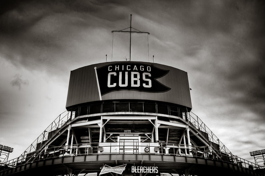 Wrigley Field Bleachers In Black And White is a photograph by Anthony ...