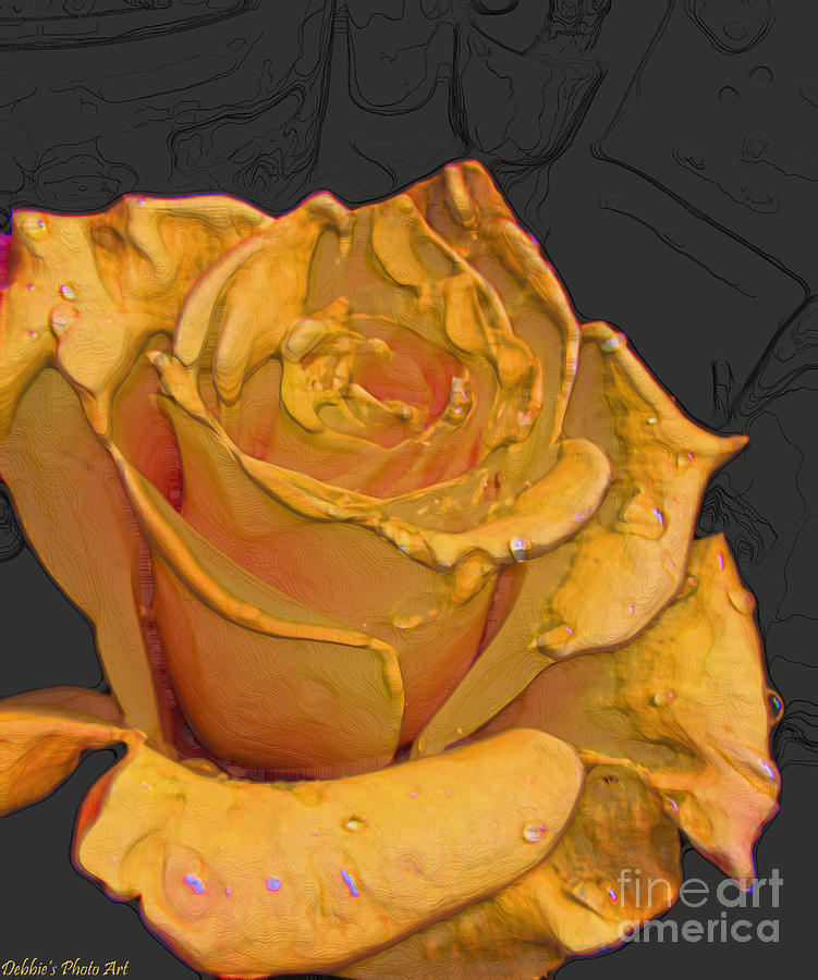 Yellow Rose Art Photograph  - Yellow Rose Art Fine Art Print