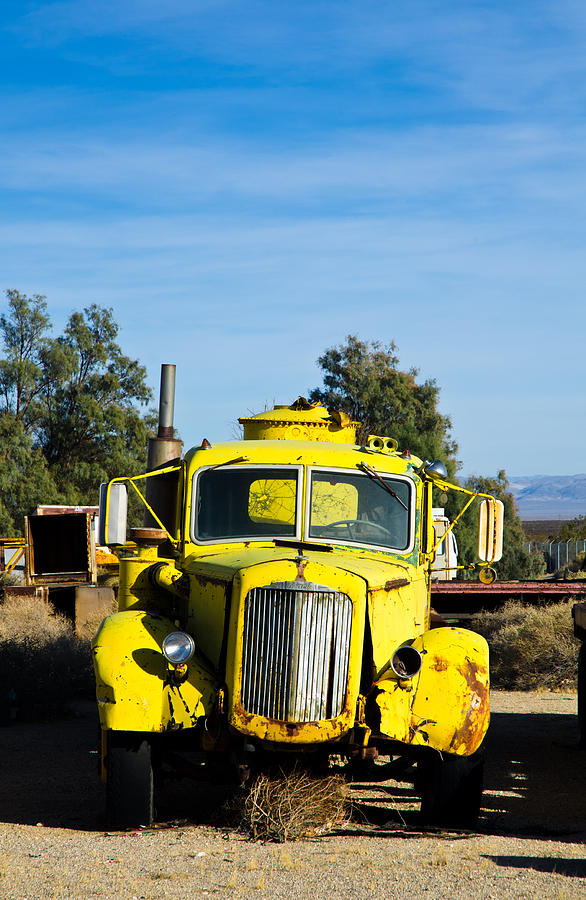 Yellow Water Truck Photograph  - Yellow Water Truck Fine Art Print