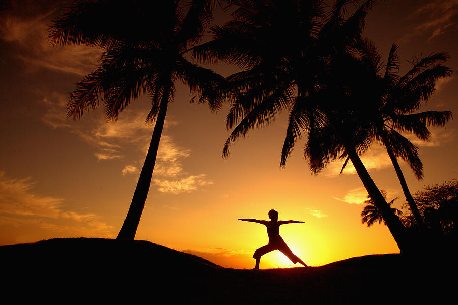 Yoga At Sunset Photograph