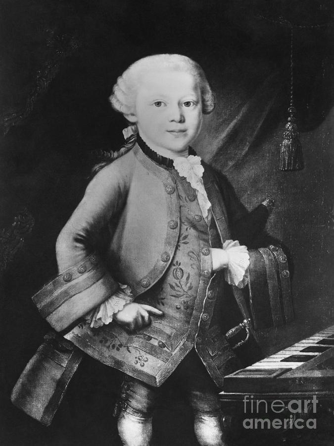 Young Wolfgang Amadeus Mozart, Austrian Photograph