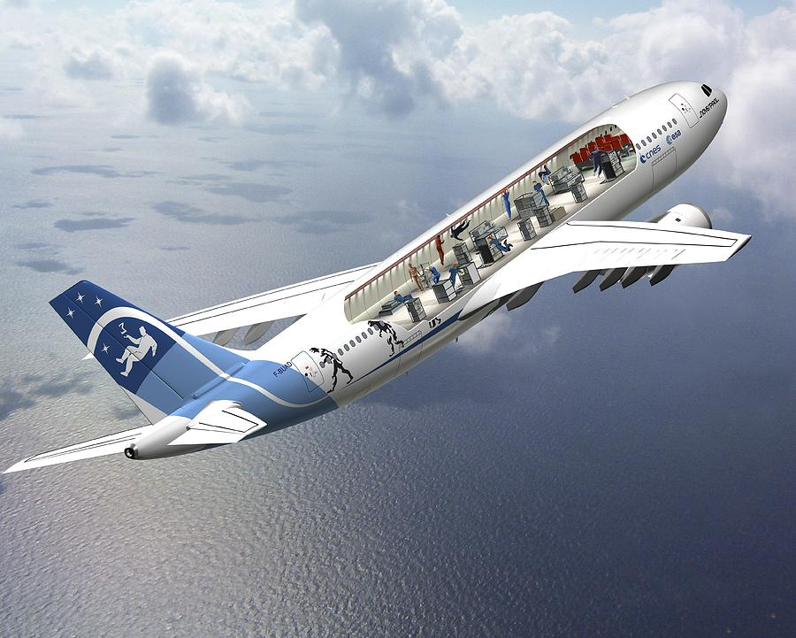Zero-g Airbus Aircraft, Artwork Photograph