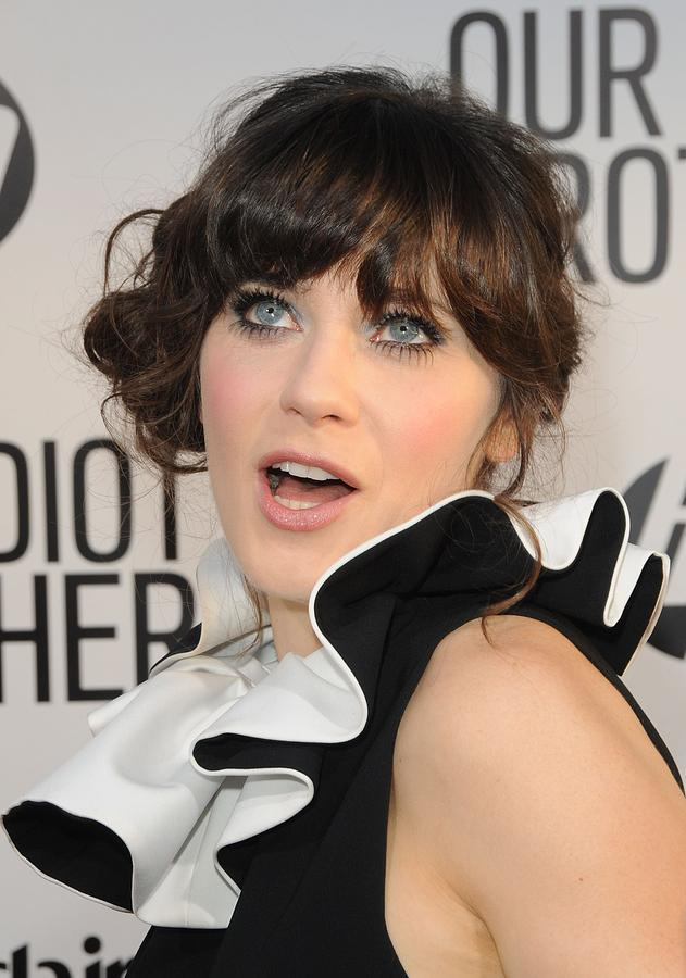Zooey Deschanel At Arrivals For Our Photograph  - Zooey Deschanel At Arrivals For Our Fine Art Print