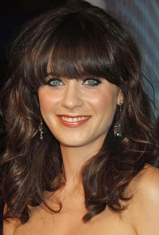 Zooey Deschanel At Arrivals For The Photograph  - Zooey Deschanel At Arrivals For The Fine Art Print