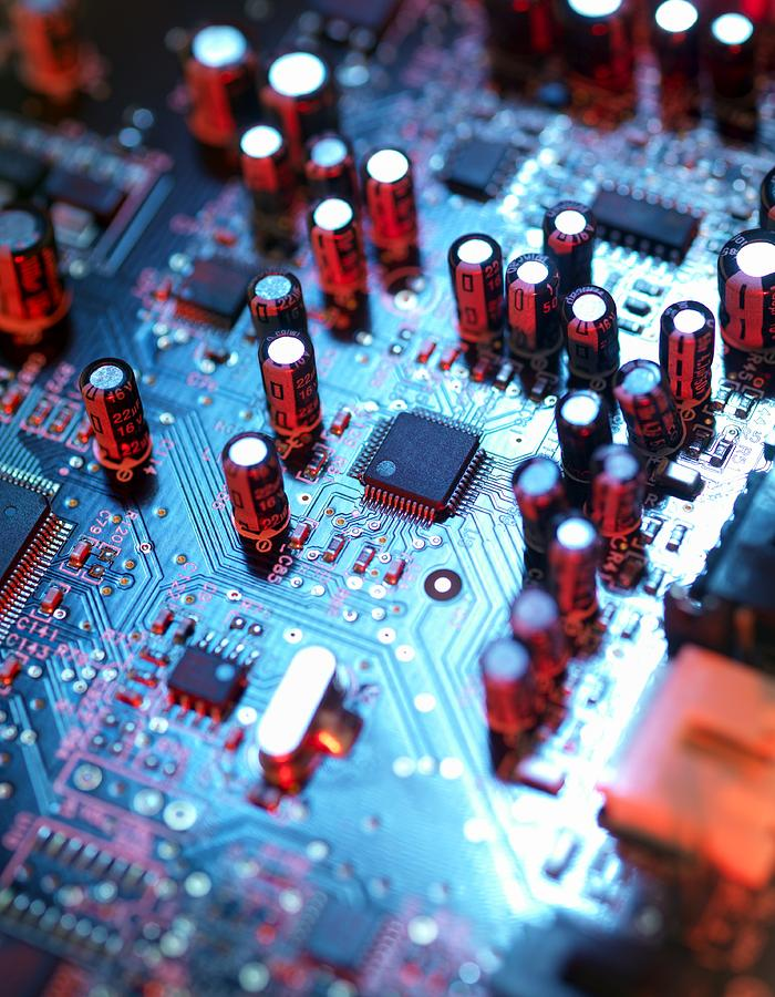 Circuit Board Photograph - Circuit Board by Tek Image