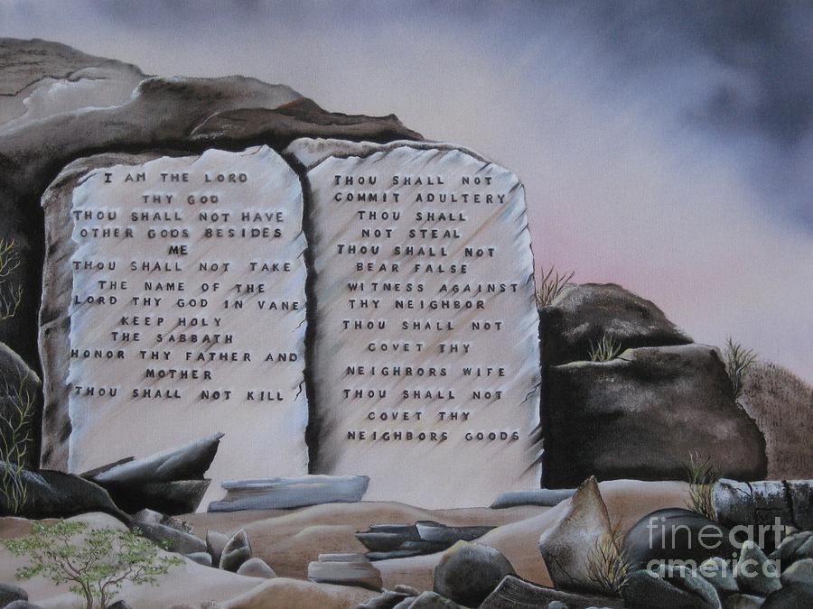 10 Commandments Painting  - 10 Commandments Fine Art Print