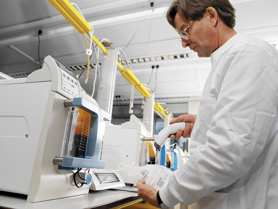 Donor Blood Processing Photograph