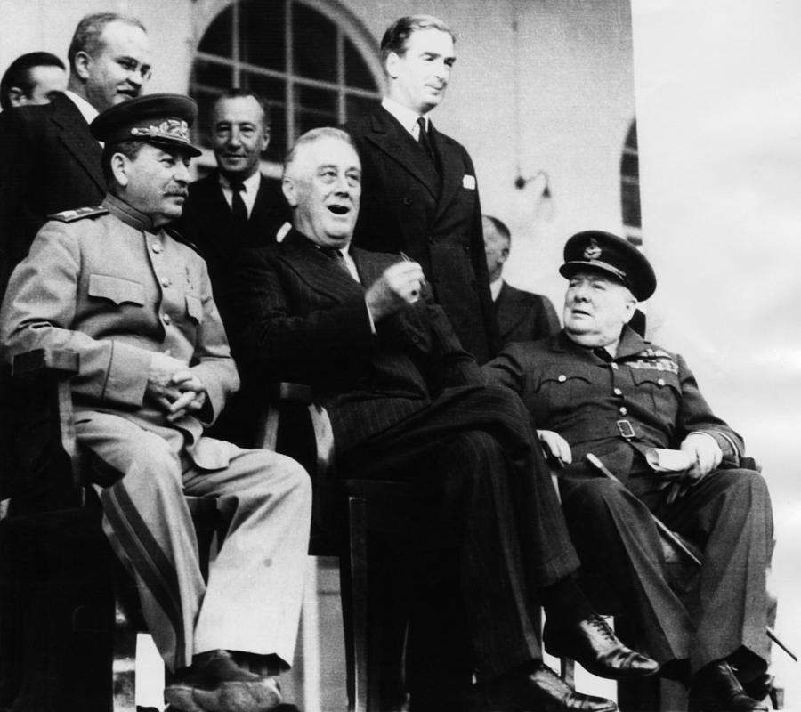 1940s Candid Photograph - President Franklin D. Roosevelt Front by Everett