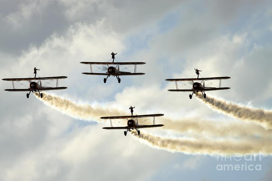 Wingwalkers Photograph  - Wingwalkers Fine Art Print