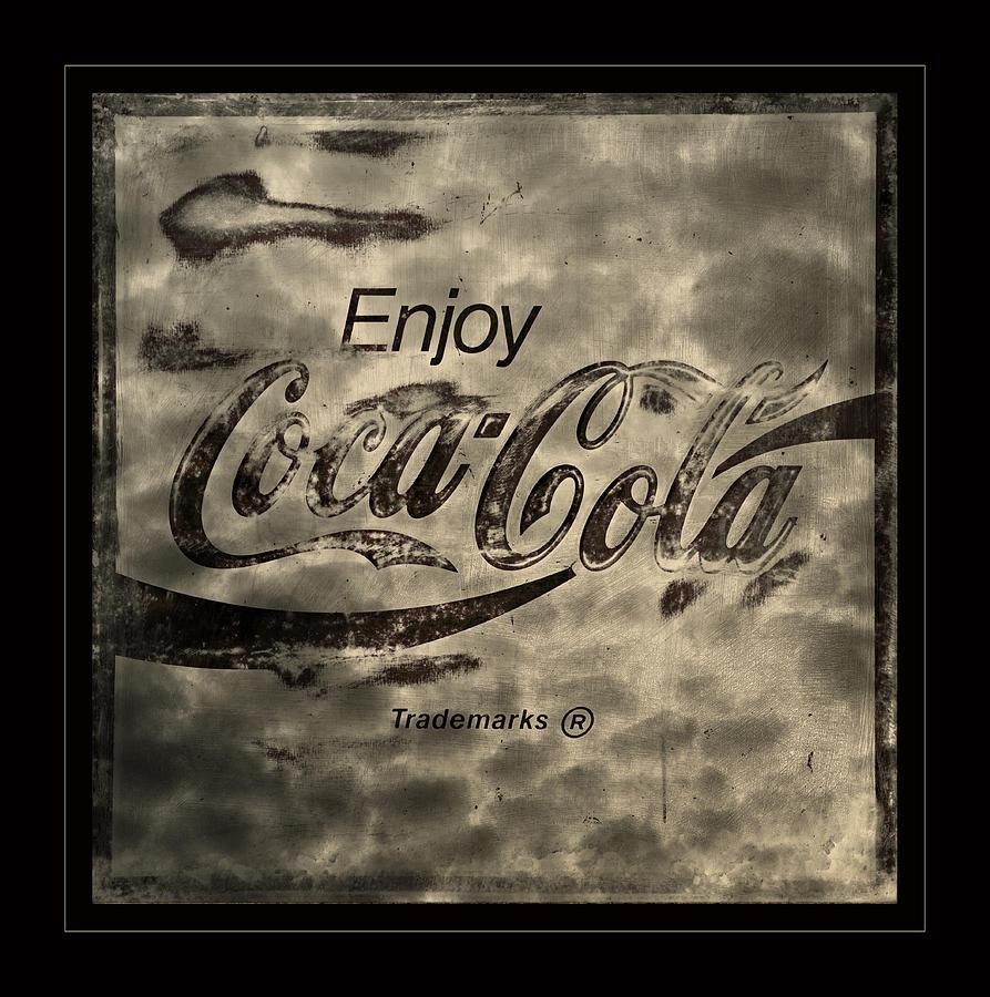 Coca Cola Photograph - Coca Cola Sign Grungy Retro Style by John ...