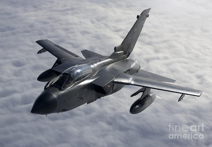 Germany Photograph - A Luftwaffe Tornado Ids Over Northern by Gert Kromhout