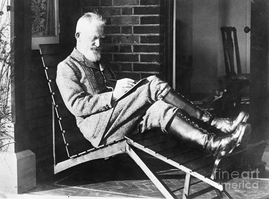 19th Century Photograph - George Bernard Shaw by Granger