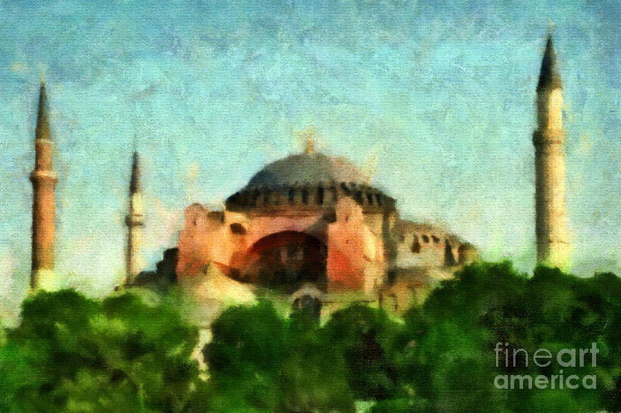 Hagia Sophia Mixed Media