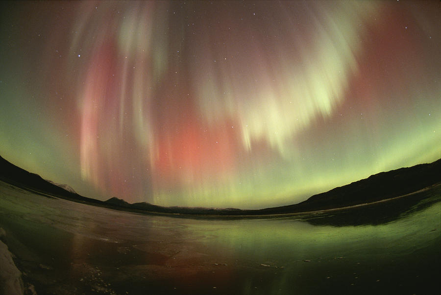 A Brilliant Display Of Aurorae Photograph