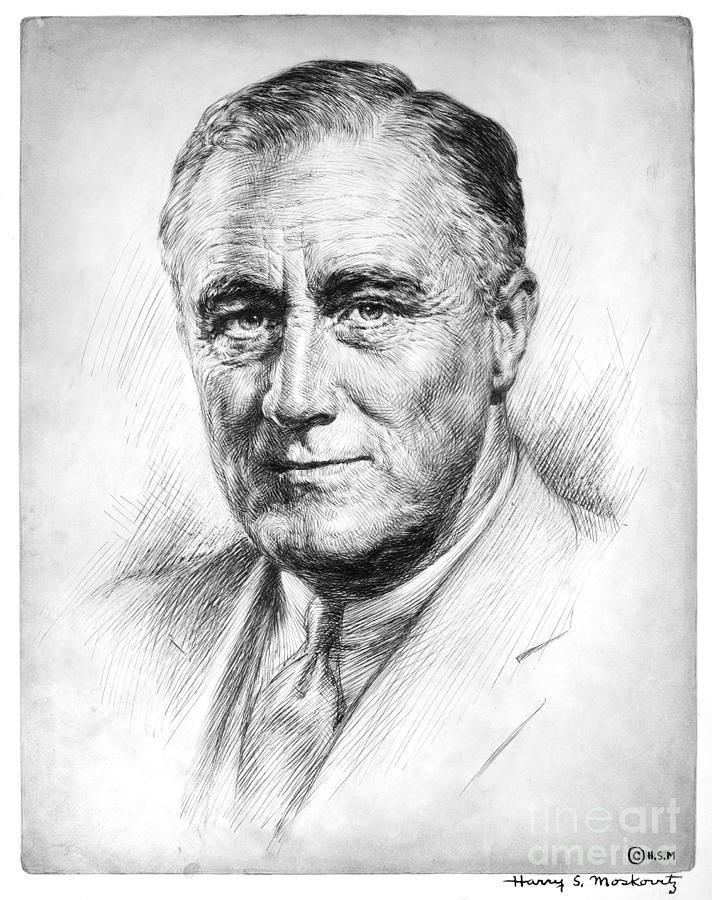 1933 Photograph - Franklin Delano Roosevelt by Granger