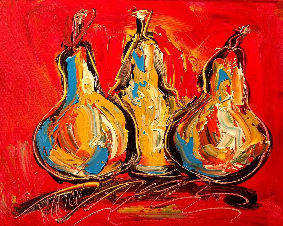 Nature Painting - Pears by Mark Kazav