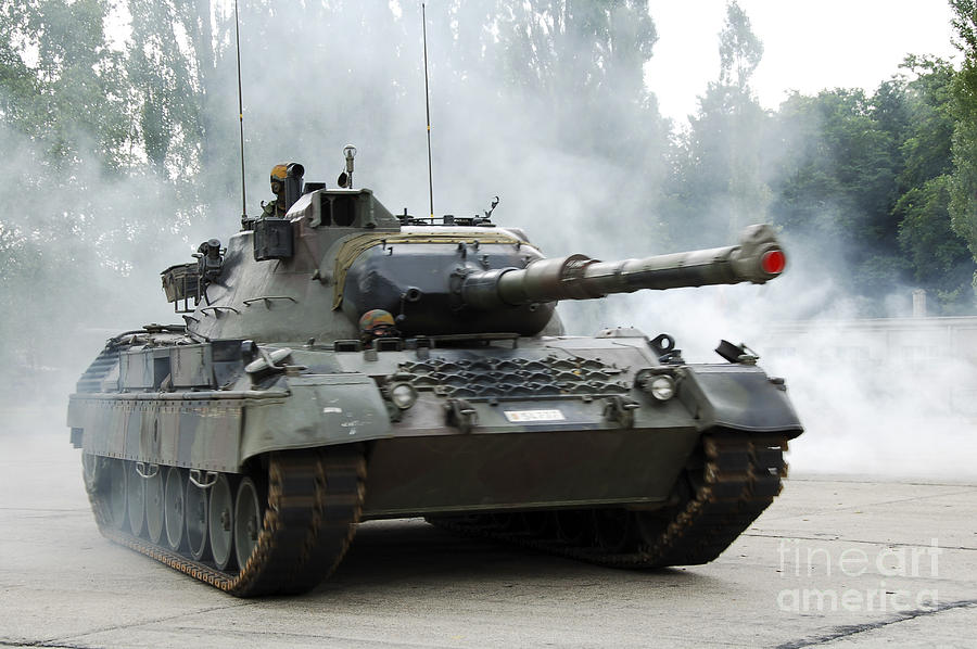 The Leopard 1a5 Of The Belgian Army Photograph