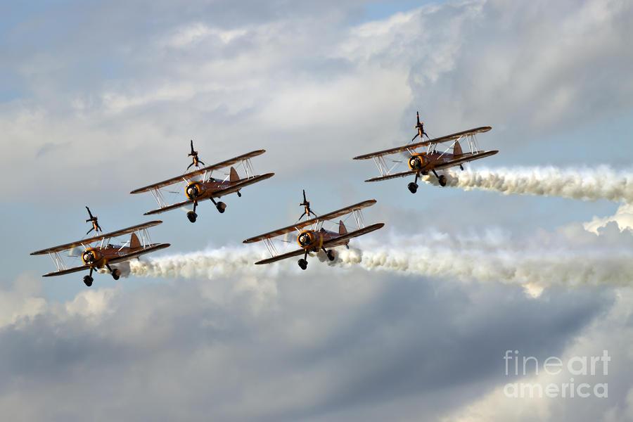 Airshow Photograph - Wingwalkers by Angel  Tarantella