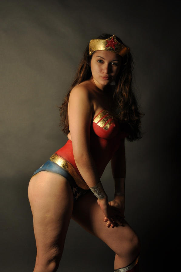 Wonder Woman Body Painting