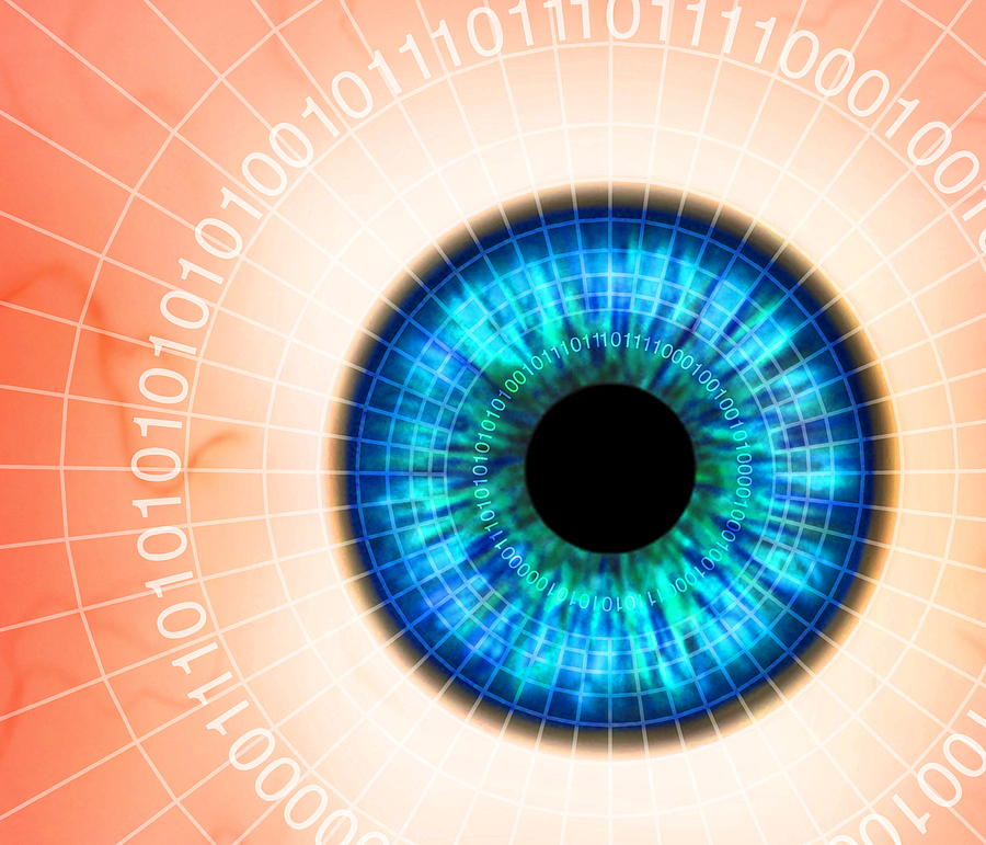 Biometric Eye Scan Photograph  - Biometric Eye Scan Fine Art Print