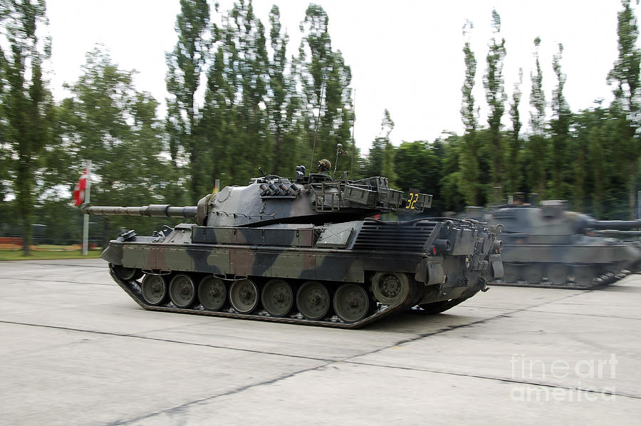 The Leopard 1a5 Of The Belgian Army Photograph  - The Leopard 1a5 Of The Belgian Army Fine Art Print