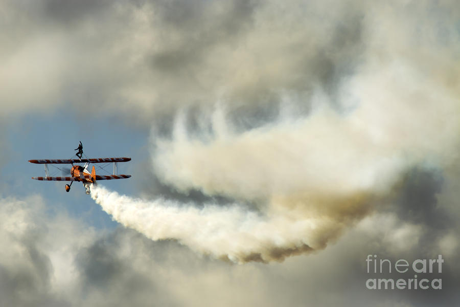 Airshow Photograph - Wingwalkers by Angel  Tarantella