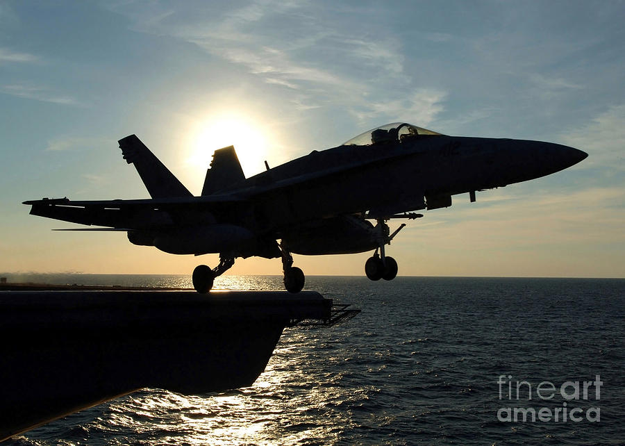An Fa-18c Hornet Launches Photograph  - An Fa-18c Hornet Launches Fine Art Print