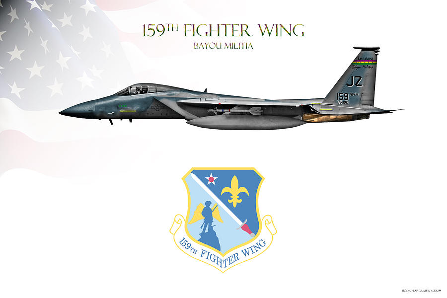 159th Fighter Wing Digital Art