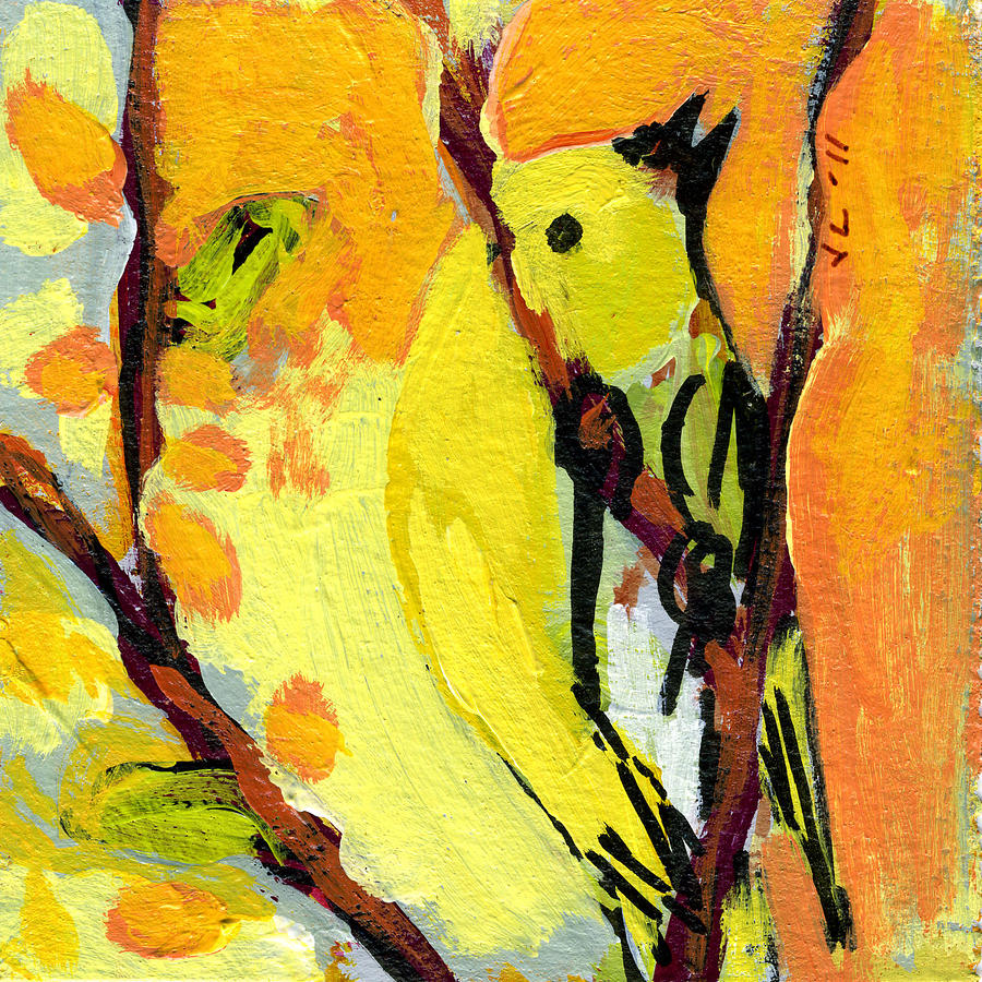 16 Birds No 1 Painting  - 16 Birds No 1 Fine Art Print