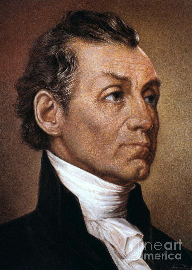 James Monroe (1758-1831) Photograph  - James Monroe (1758-1831) Fine Art Print