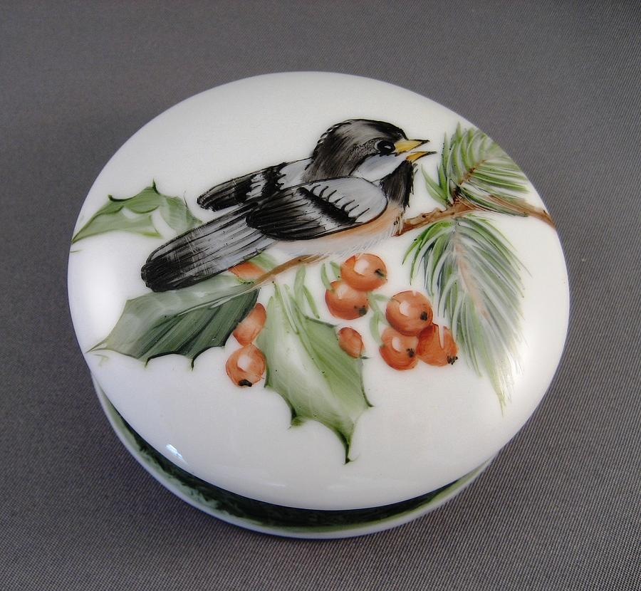 1647 Chickadee Box Ceramic Art