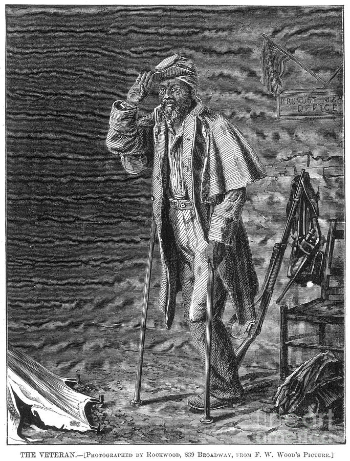 1860s Photograph - Civil War: Black Troops by Granger