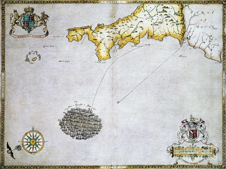 Spanish Armada, 1588 Photograph