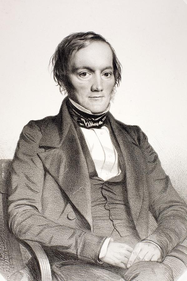 Anatomist Photograph - 1850 Richard Owen Portrait Paleontologist by Paul D Stewart