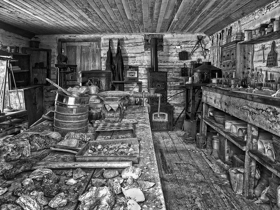 1860s Ore Assay Office Shop - Montana Photograph  - 1860s Ore Assay Office Shop - Montana Fine Art Print