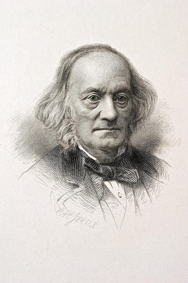 1880 Sir Richard Owen Engraved Portrait Photograph