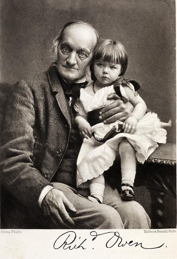 1880s Sir Richard Owen And Grandaughter Photograph