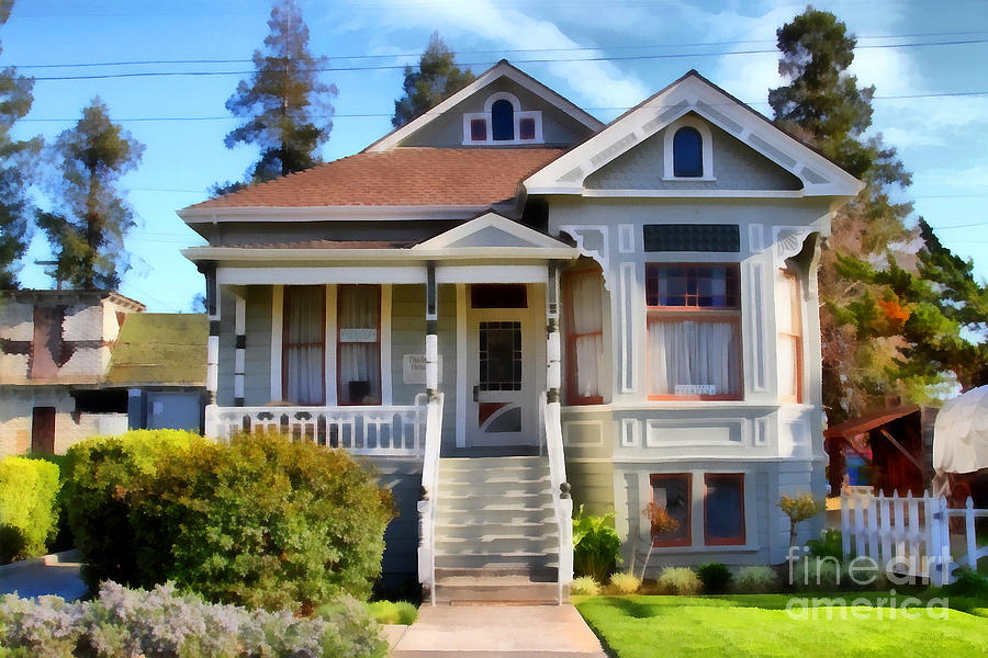 1890s Queen Anne Style House . 7d12965 Photograph  - 1890s Queen Anne Style House . 7d12965 Fine Art Print