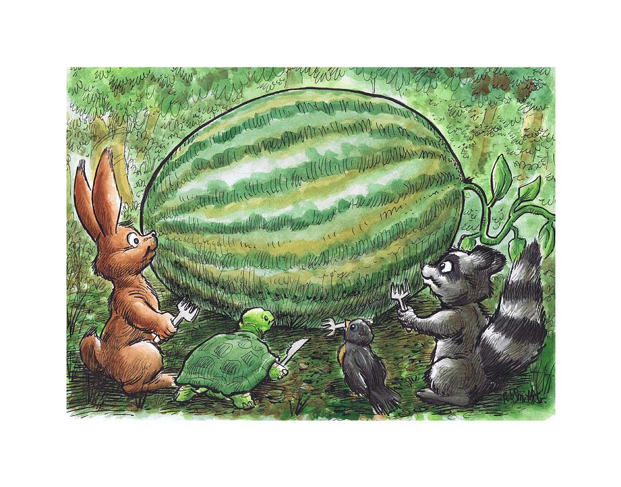 19 - Cypress Creek Wma - Watermelon Painting