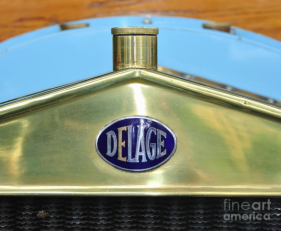 1909 Delage Badge Photograph  - 1909 Delage Badge Fine Art Print