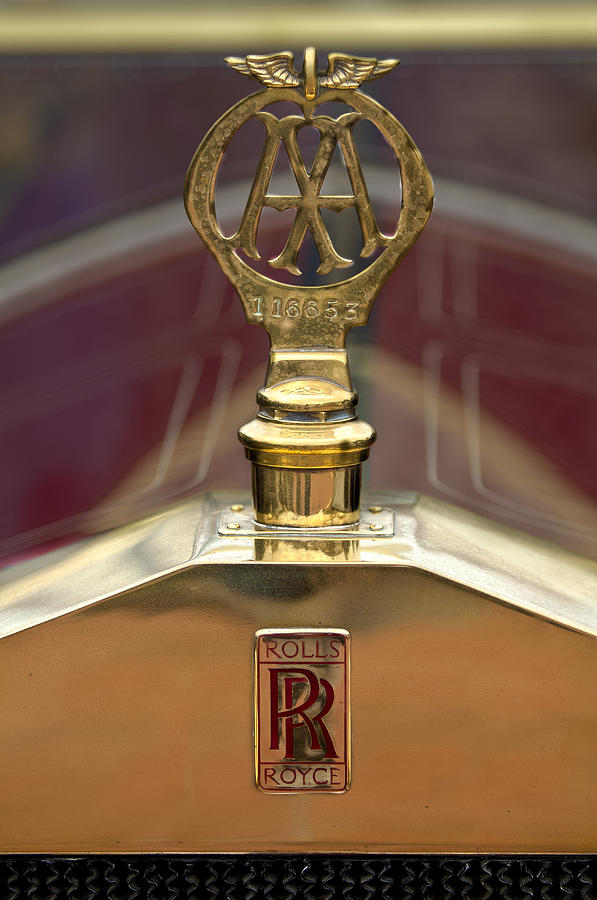 1910 Rolls-royce Silver Ghost Balloon Hood Ornament Photograph