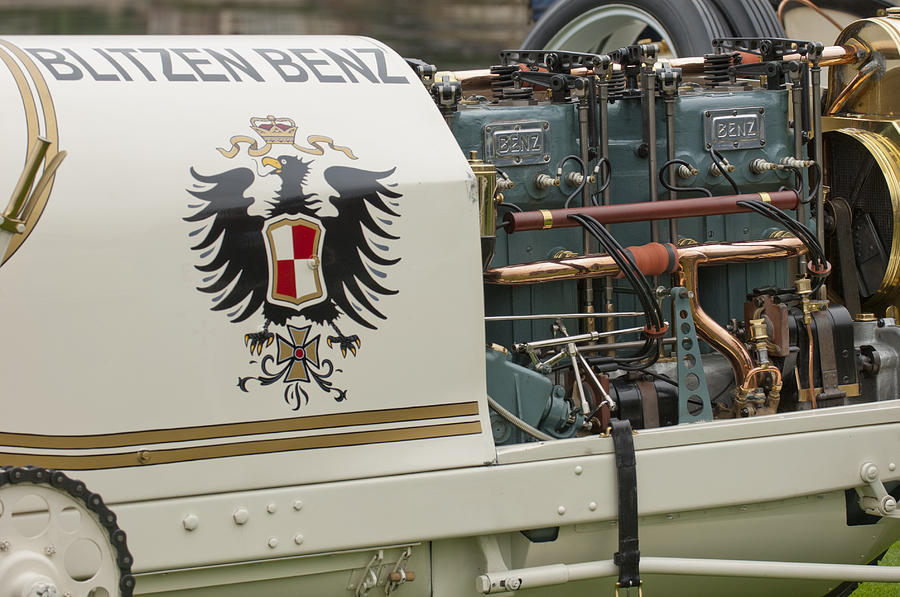 1911 Benz 200 Hp  - Blitzen Benz Engine2 Photograph  - 1911 Benz 200 Hp  - Blitzen Benz Engine2 Fine Art Print