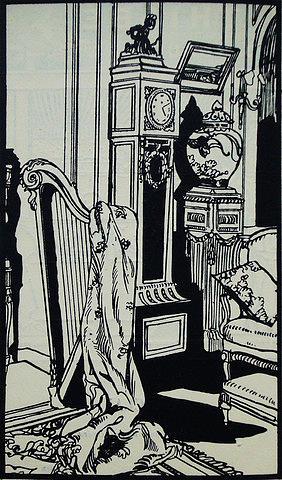 Art Nouveau Drawing - 1914 Original French Poster - Un Coin De Salon - Journal Des Dames Et De La Mode by Krieger