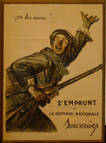 1915 Original French Wwi Poster - On Les Aura Painting