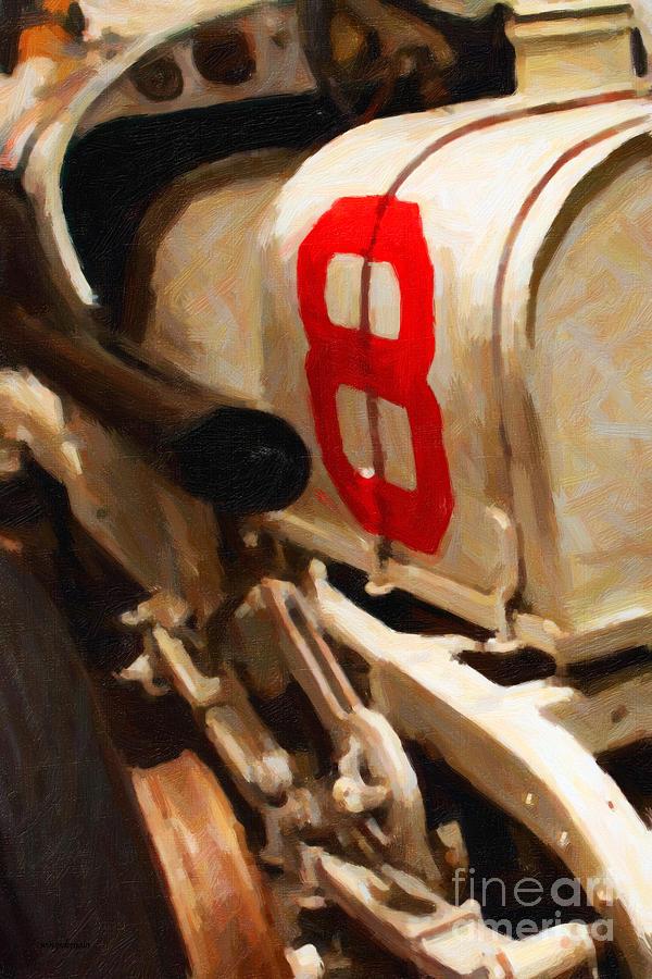1915 Stutz White Squadron Racer - Painterly - 7d17497 Photograph