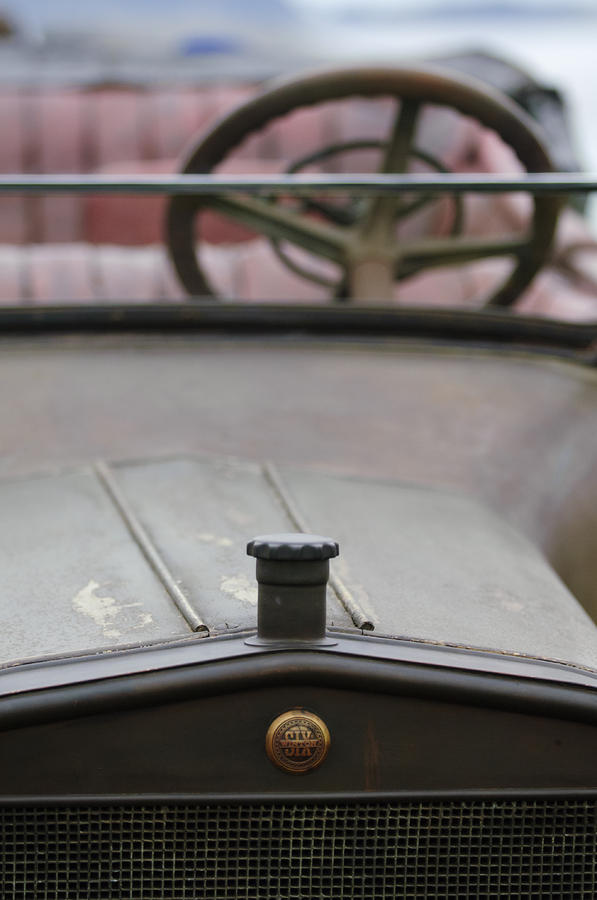 1916 Winton Model 33 Touring Photograph - 1916 Winton Model 33 Touring Hood Ornament by Jill Reger